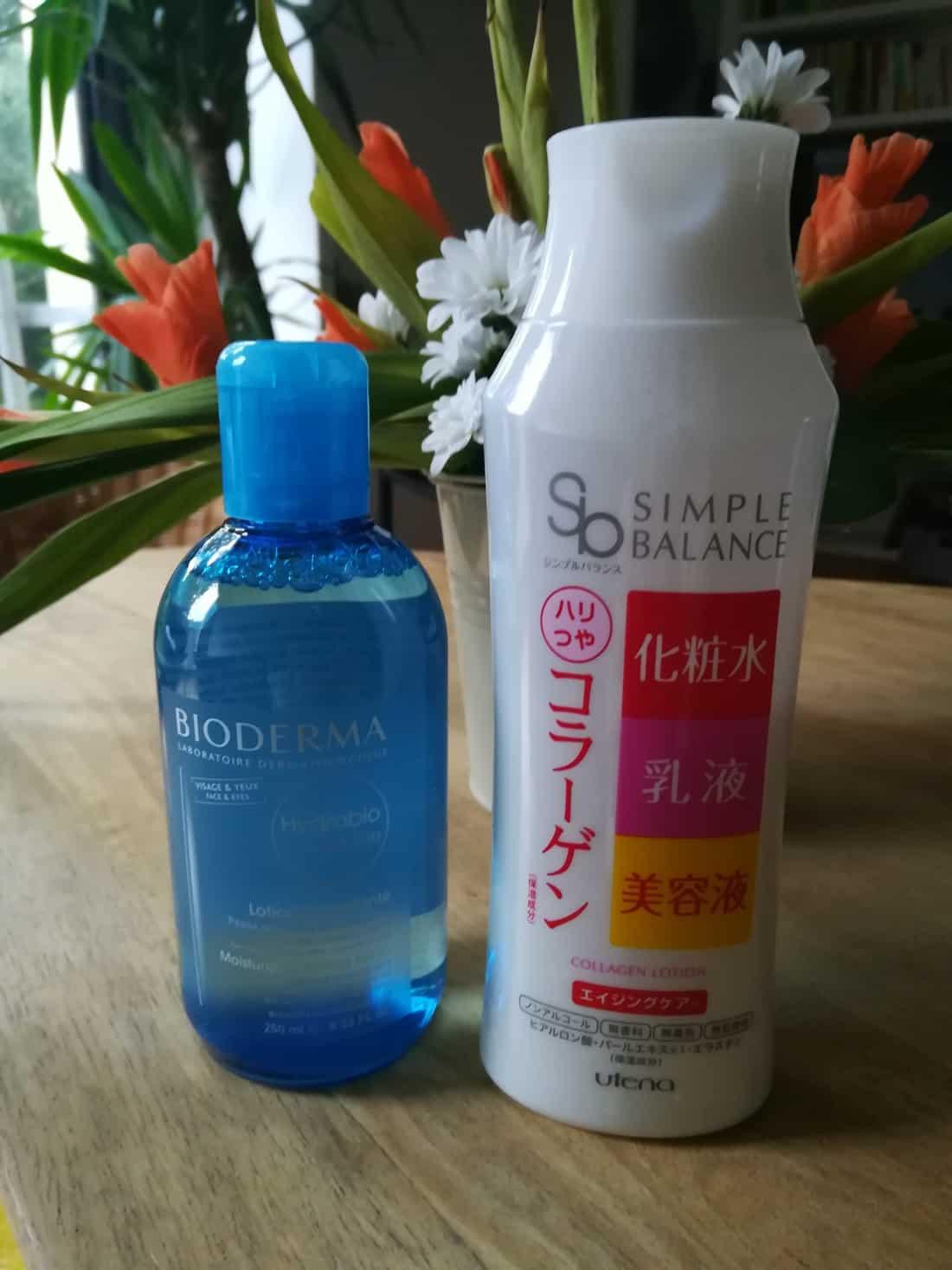 化粧水ビオデルマ(BIODERMA)とウテナ(utena)