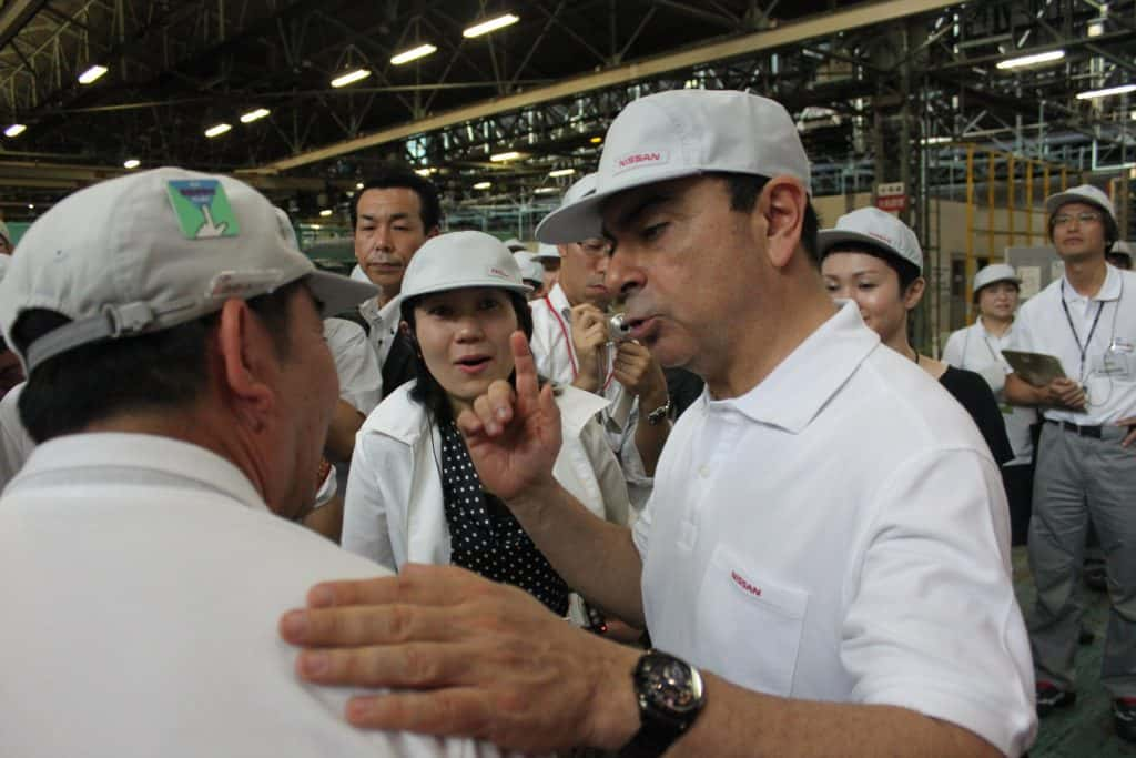 Carlos Ghosn usine nissan