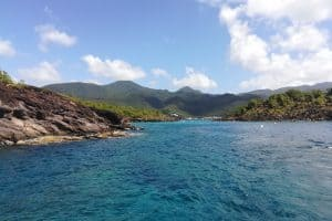 グアドループのバステール島