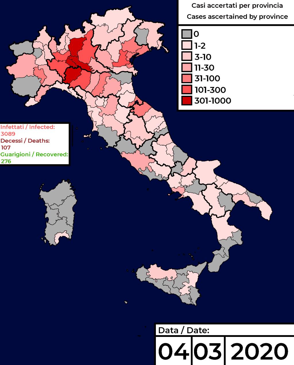 コロナウィルス感染が広まるヨーロッパ