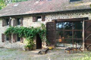 フランスの田舎の大きな邸宅