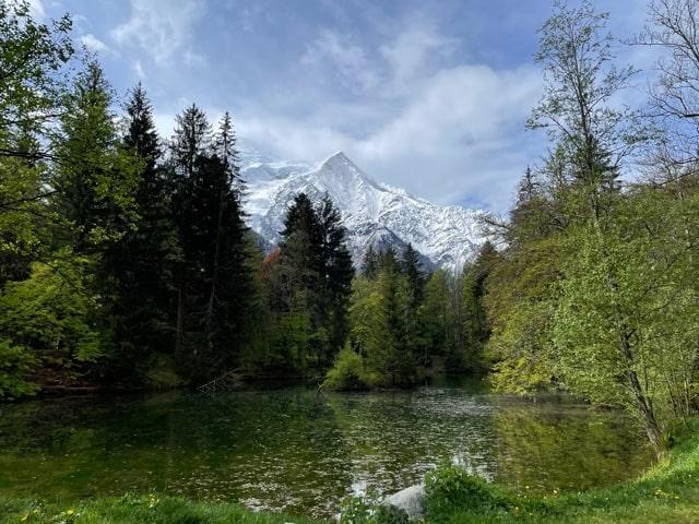 シャモニーサンクレール湖